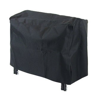 Sunnydaze Black Outdoor Waterproof Heavy-Duty Firewood Log Rack Cover - 2-Foot