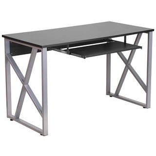 Hamlet Black Computer Desk w/Pull-Out Keyboard Tray