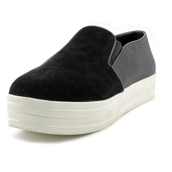 Steve Madden Buhba Women Round Toe Suede Black Loafer