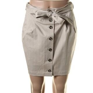 Catherine Malandrino Womens Poplin Pinstripe Pencil Skirt - 4