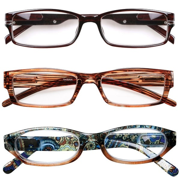 943ff6506670 Shop Women's Reading Glasses 5.0 Brown - Variety Pack of 3 - 5 - Free  Shipping Today - Overstock - 19897249