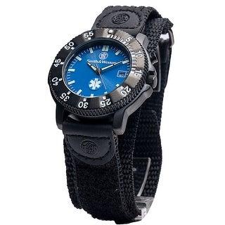 Smith & Wesson 455 EMT Watch Date Display Glow Nylon Strap 40mm 3ATM - Black