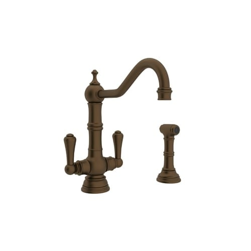 Shop Rohl U.4766 2 Perrin And Rowe Kitchen Faucet With Side Spray And Metal  Lever Handles   Free Shipping Today   Overstock   13200661