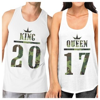 c305188a561b2 Shop King Queen Military Personalized Tank Tops Custom Matching Tanks - On  Sale - Free Shipping Today - Overstock - 23001170