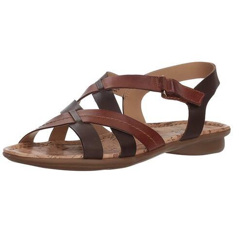 371e9f907fa3 Naturalizer Womens wyla Leather Open Toe Casual Ankle Strap Sandals