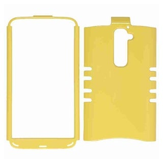 Unlimited Cellular Rocker Snap-On Case for LG G2 (Honey Bright Yellow)