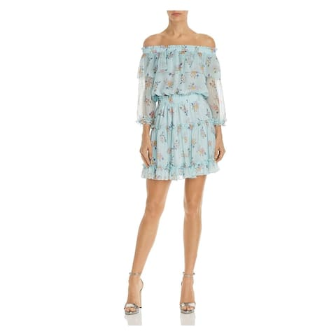Shoshanna Light Blue 3/4 Sleeve Short Dress 6