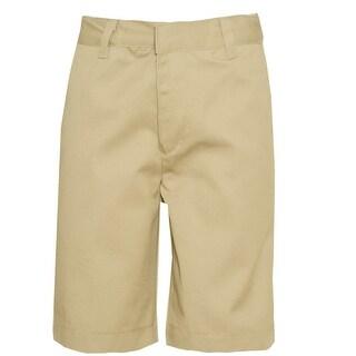 Authentic Galaxy Little Boys Khaki Button Detail School Uniform Shorts