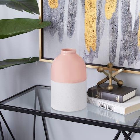 Pink Ceramic Modern Vase 10 x 6 x 6 - 6 x 6 x 10