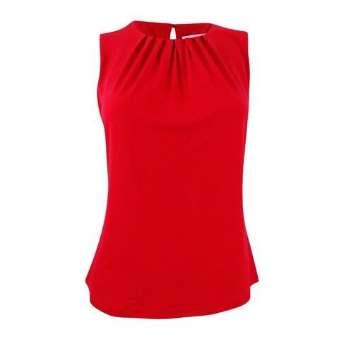 Calvin Klein Women's Petite Sleeveless Camisole - Red