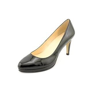 Cole Haan Margot Pump.75.II Women Round Toe Patent Leather Black Heels