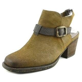 OTBT Des Peres Women Square Toe Leather Brown Bootie
