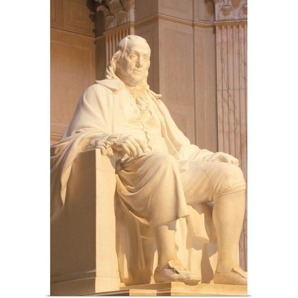 """""""USA, Philadelphia, Benjamin Franklin statue at Franklin Institute"""" Poster Print"""