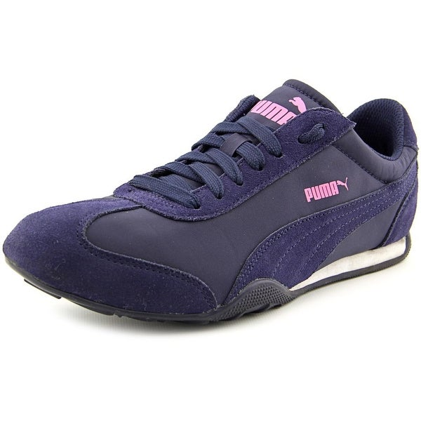Puma 76 Runner Fun Women Round Toe Canvas Blue Sneakers