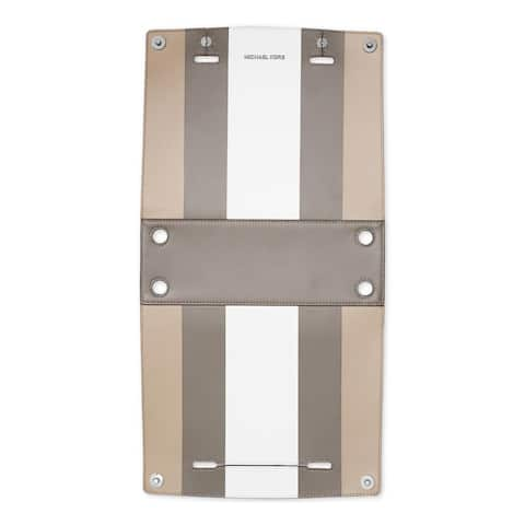 Michael Kors Womens Selma Swap Handbag Cover Leather Reversible - White Cement/Pearl Grey - O/S
