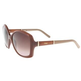 Chloe CE663/S 248 Purple/Brown Butterfly Sunglasses - 58-14-135