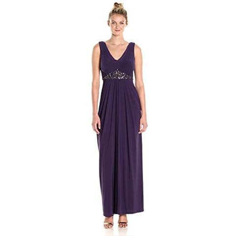 Adrianna Papell Women's Shirred Bodice with Bead Detail