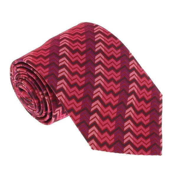 Missoni U5327 Pink/Fuschia Chevron 100% Silk Tie - 60-3