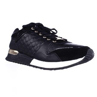 bebe Sport Racer Lace Up Fashion Sneakers - Black