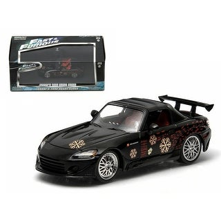 Johnny\'s 2000 Honda S2000 Black The Fast and The Furious Movie (2001) 1/43 Diecast Model Car by Greenlight