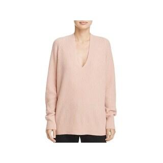 Vince Womens Pullover Sweater Wool Raglan Sleeves - M