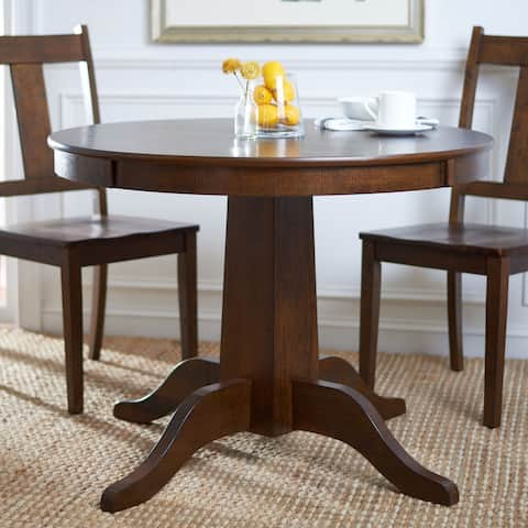 "SAFAVIEH Sergio Rustic Café Brown Round Dining Table - 40"" W x 40"" L x 30"" H"