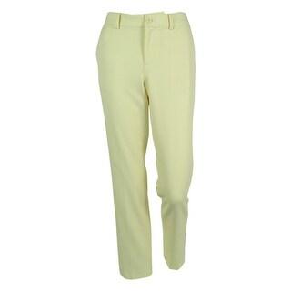 Ralph Lauren Women's Flat Front Slim Leg Dress Pants
