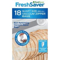 FoodSaver FSFRBZ0216-P00R FreshSaver Vacuum Food Sealer Bag, Clear, 1 Quart