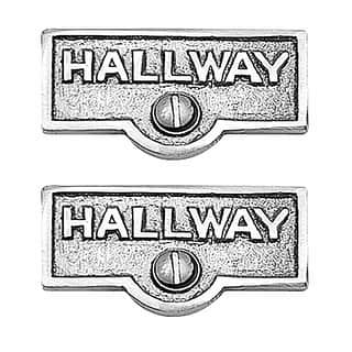 2 Switch Plate Tags HALLWAY Name Signs Labels Chrome Brass Renovator's Supply|https://ak1.ostkcdn.com/images/products/is/images/direct/3f72dd763d6403d49a83728682afc1abad2e88d5/2-Switch-Plate-Tags-HALLWAY-Name-Signs-Labels-Chrome-Brass-%7C-Renovator%27s-Supply.jpg?impolicy=medium