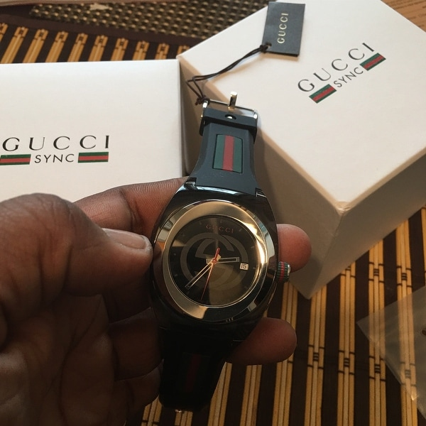 ad0a79498df Shop Gucci Men s Sync Stainless Steel Watch - Free Shipping Today -  Overstock - 22730660