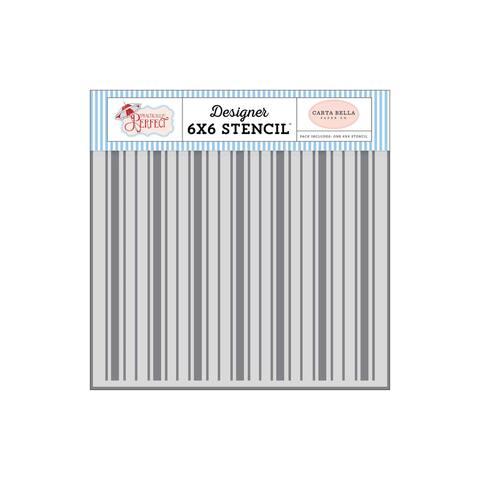 Cbpp81033 carta bella pract perfect stencil kite stripe