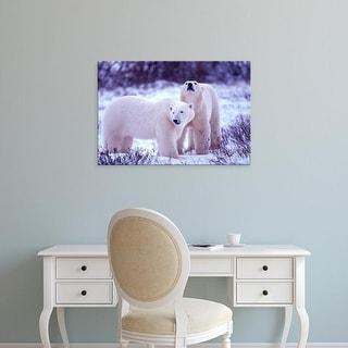 Easy Art Prints Gavriel Jecan's 'Polar Bears' Premium Canvas Art