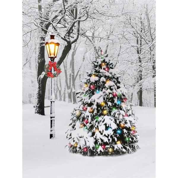 Christmas Tree Led Lighted Canvas Wall Art 5 9 X 8 3 W Timer 5 9x8 3 Overstock 32337739