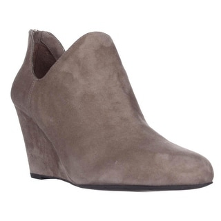 Via Spiga Fabienne Wedge Ankle Booties - Dark Taupe