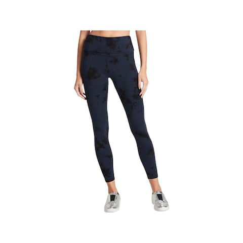 DKNY Womens Sport Athletic Leggings Tie-Dye High-Waist