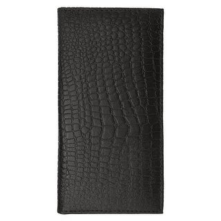 New High End Marshal Leather Checkbook Cover Case #156-CR - Black