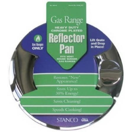 Stanco 800-R Reflector Pan, Gas Range, Heavy Duty, Chrome Plated, 7""