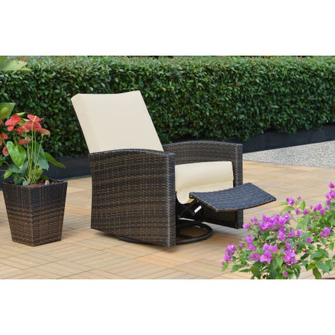 Oceanside Swivel Recliner with Sunbrella Cushions