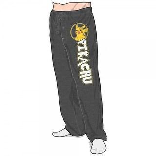 Pokemon Logo Black Adult Men's Lounge Pants XX-Large
