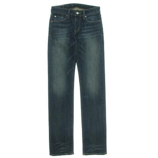 Denim & Supply Ralph Lauren Womens Straight Leg Jeans Denim Frayed Hem