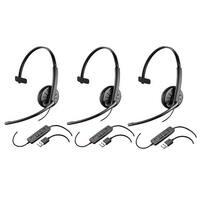 Plantronics Blackwire C315  (3-Pack) Mono Corded Headset