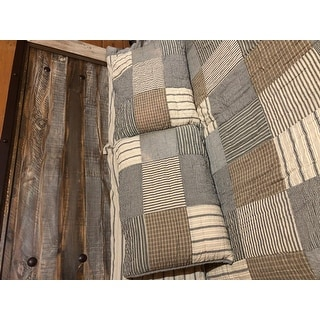 Farmhouse Bedding VHC Sawyer Mill Sham Cotton Patchwork Chambray