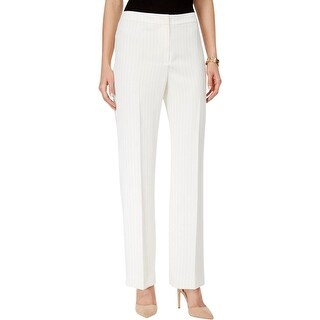 Kasper Womens Kate Dress Pants Pinstripe Straight Leg
