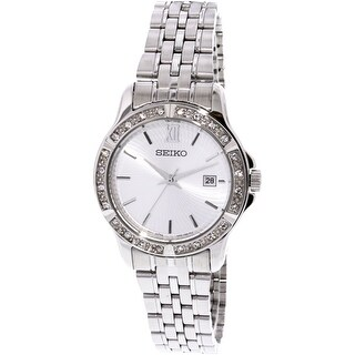 Seiko Women's SUR741 Silver Stainless-Steel Quartz Fashion Watch