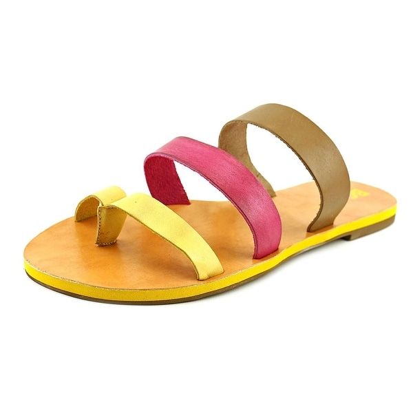 BC Footwear Peanut Women  Open Toe Leather Multi Color Slides Sandal