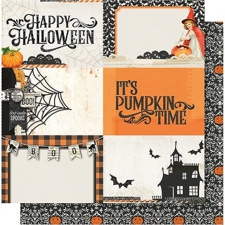 "Simple Vintage Halloween Double-Sided Cardstock 12""X12""-4""X6"" Horizontal Elements"
