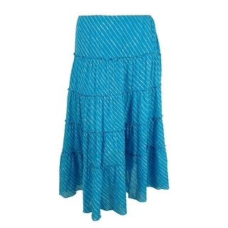 Ralph Lauren Women's Striped Tiered Skirt - 3X