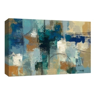 """PTM Images 9-154038  PTM Canvas Collection 8"""" x 10"""" - """"Jasper Lagoon"""" Giclee Abstract Art Print on Canvas"""