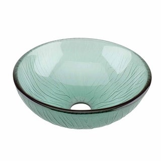 Frosted Green Tempered Glass Mini Vessel Bowl Sink Renovator's Supply