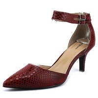 Style & Co. Womens WANDAH Pointed Toe Ankle Strap D-orsay Pumps